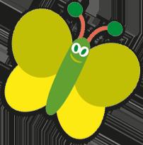 Cartoon butterfly green medium Storybook Montessori Nursery Ascot 13
