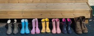 Children's wellington boots for when it's raining and muddy